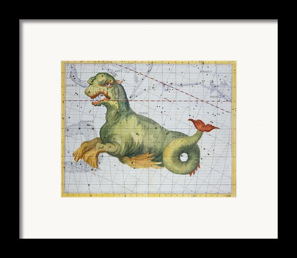 Constellation Of Cetus The Whale Framed Print By James Thornhill