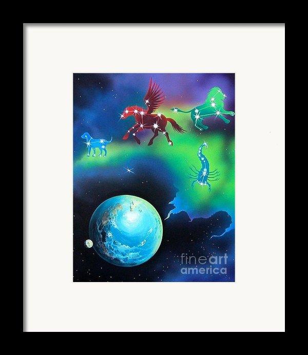 Constellations Framed Print By Kimberlee  Ketterman Edgar
