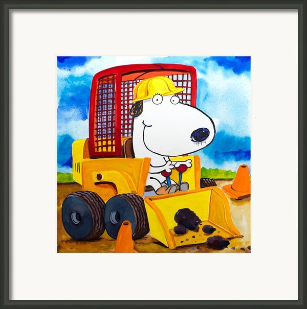 Construction Dogs Framed Print By Scott Nelson