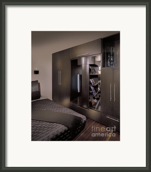 Contemporary Bedroom Framed Print By Robert Pisano
