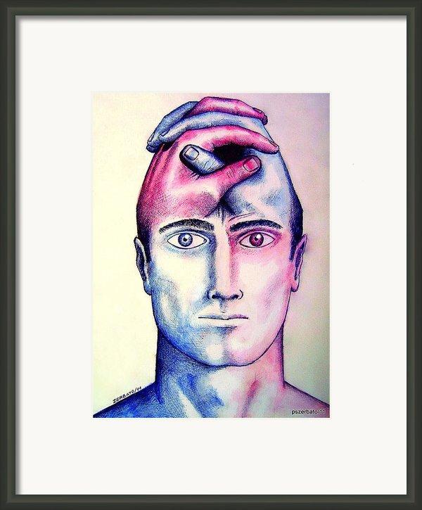 Contralateral Stimuli Framed Print By Paulo Zerbato