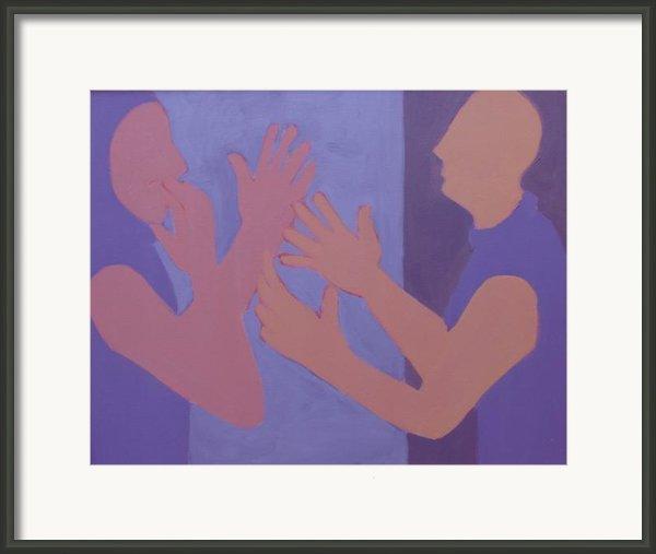 Conversation Framed Print By Renee Kahn