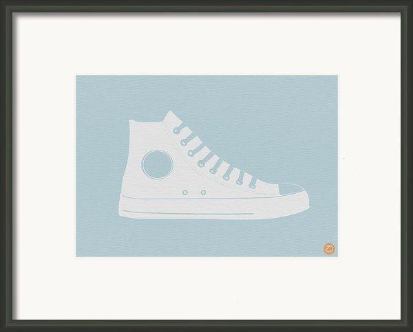 Converse Shoe Framed Print By Naxart Studio