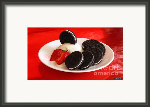 Cookies N Cream Framed Print By Methune Hively