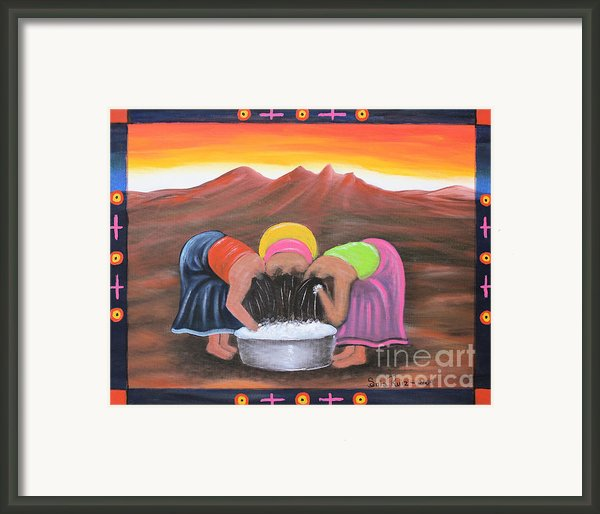 Cooling Off Framed Print By Sonia Flores Ruiz