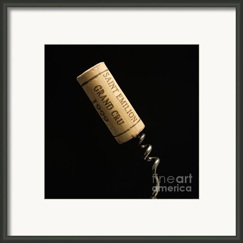 Cork Of Bottle Of Saint-emilion Framed Print By Bernard Jaubert