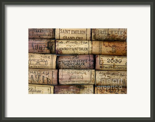 Corks Of French Wine Framed Print By Bernard Jaubert