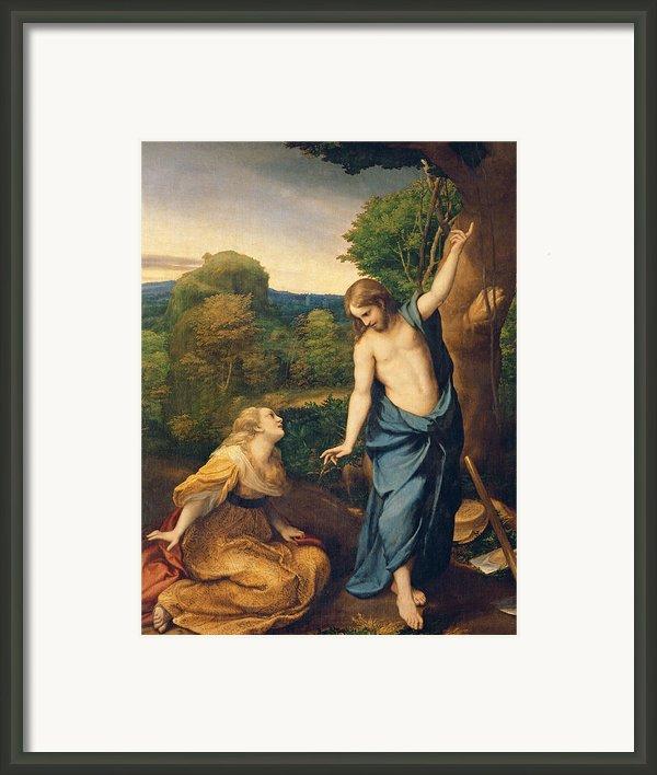 Correggio Framed Print By Noli Me Tangere