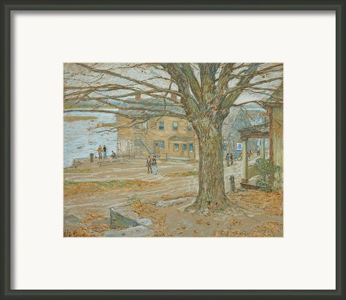 Cos Cob In November Framed Print By Childe Hassam