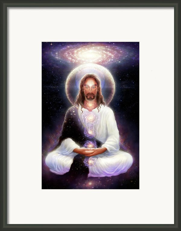 Cosmic Christ Framed Print By George Atherton