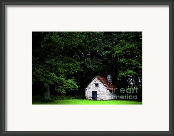 Cottage In The Woods Framed Print By Fabrizio Troiani