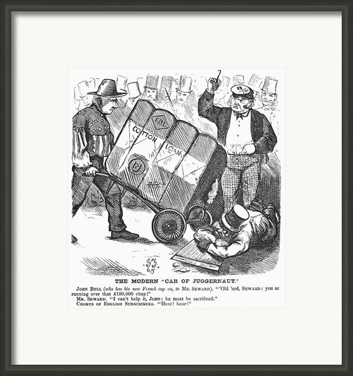 Cotton Loan Cartoon, 1865 Framed Print By Granger