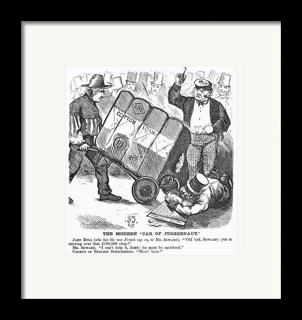 Cotton Loan Cartoon, 1865 Framed Print By Granger