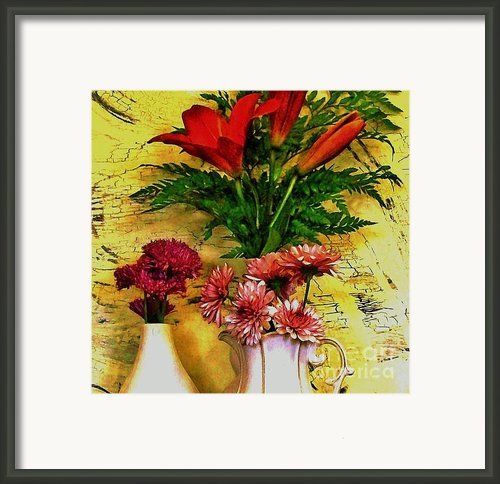 Country Bouquets Framed Print By Marsha Heiken