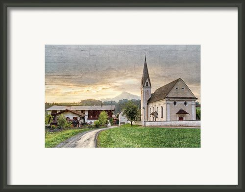 Country Church Framed Print By Debra And Dave Vanderlaan