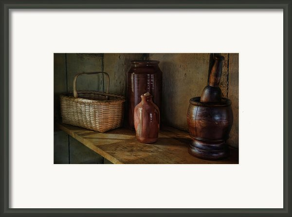 Country Cupboard Framed Print By Robin-lee Vieira