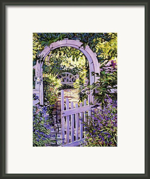 Country Garden Gate Framed Print By David Lloyd Glover