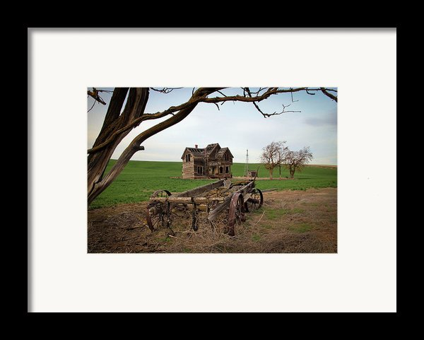 Country Home And Wagon Framed Print By Athena Mckinzie
