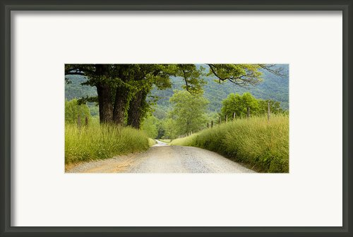 Country Road In The Smokies Framed Print By Andrew Soundarajan