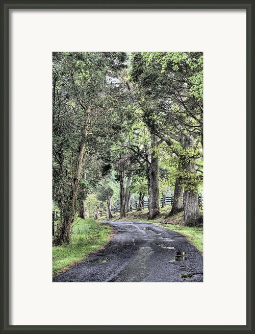County Roads Framed Print By Jc Findley