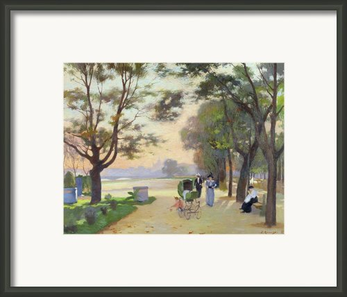 Cours La Reine Paris Framed Print By Jules Ernest Renoux