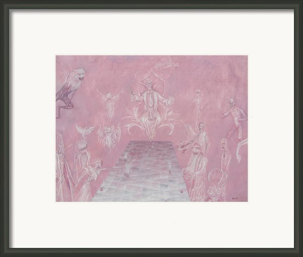Court Or The Used Car Salesman Framed Print By Samuel Lightwing