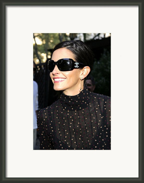 Courteney Cox Wearing Chanel Sunglasses Framed Print By Everett