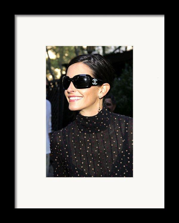 Courteney Cox Wearing Chanel Sunglasses Framed Print By Everett