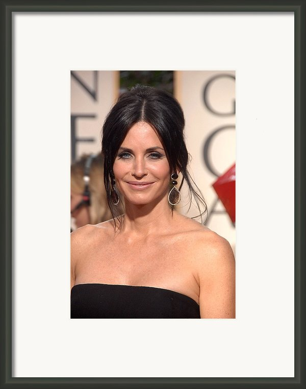 Courteney Cox Wearing Ofira Schwartz Framed Print By Everett