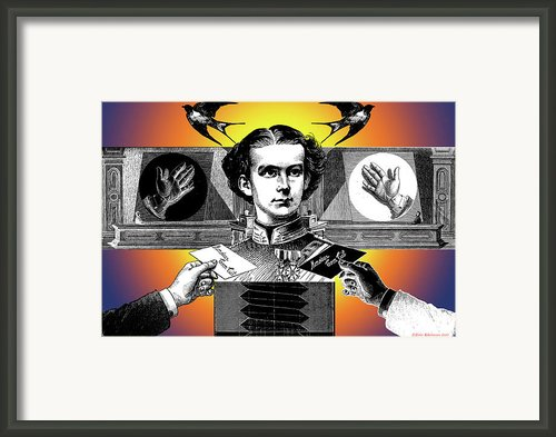 Courtship Of X The Unknown Framed Print By Eric Edelman