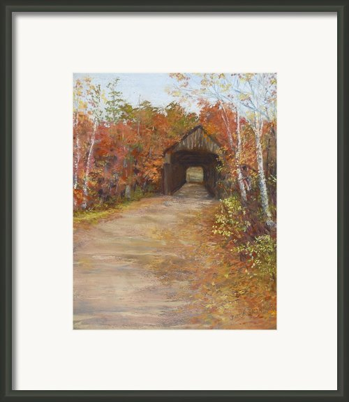 Covered Bridge  Southern Nh Framed Print By Jack Skinner