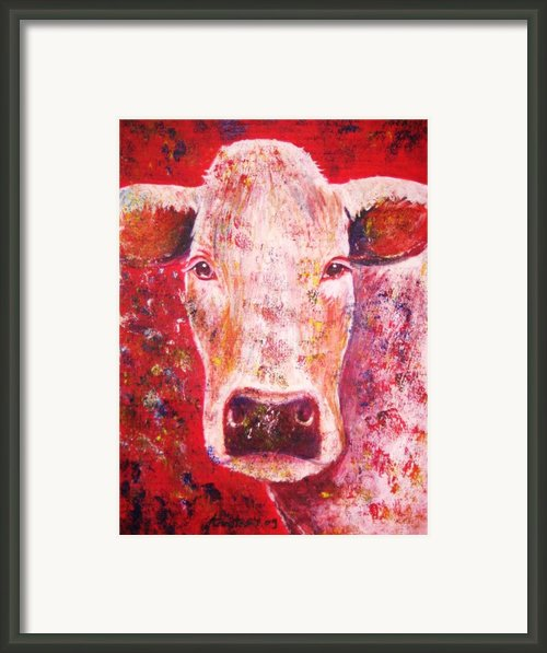Cow Framed Print By Anastasis  Anastasi