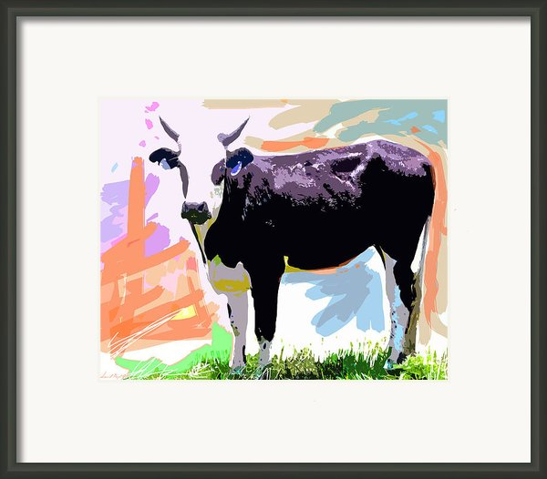 Cow Time Framed Print By David Lloyd Glover