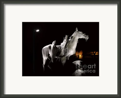 Cowboy At Rest Framed Print By Christine Till