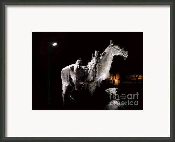 Cowboy At Rest Framed Print By Christine Till