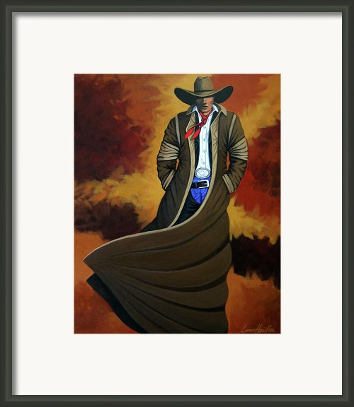 Cowboy Dust Framed Print By Lance Headlee