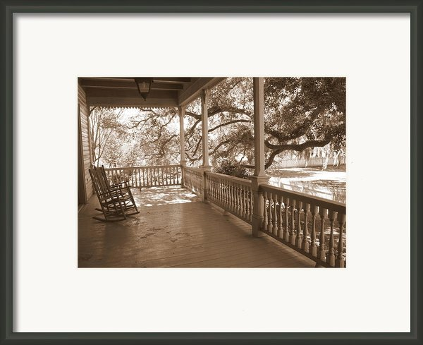 Cozy Southern Porch Framed Print By Carol Groenen
