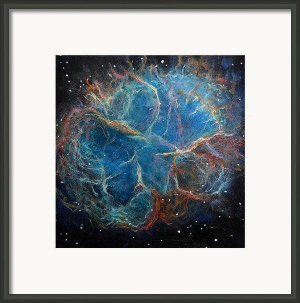 Crab Nebula Framed Print By Alizey Khan