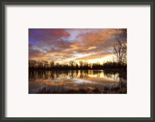 Crane Hollow Sunrise Boulder County Colorado Framed Print By James Bo Insogna