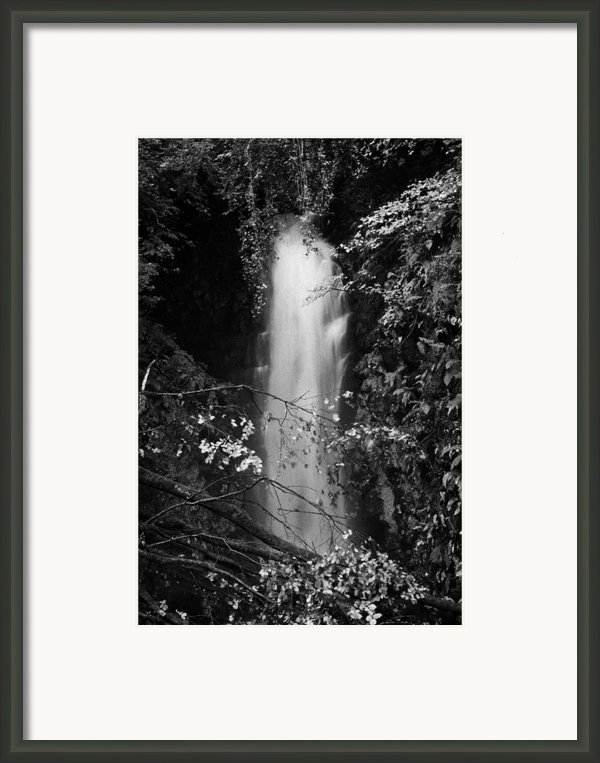 Cranny Falls Waterfall Carnlough County Antrim Northern Ireland Uk Framed Print By Joe Fox