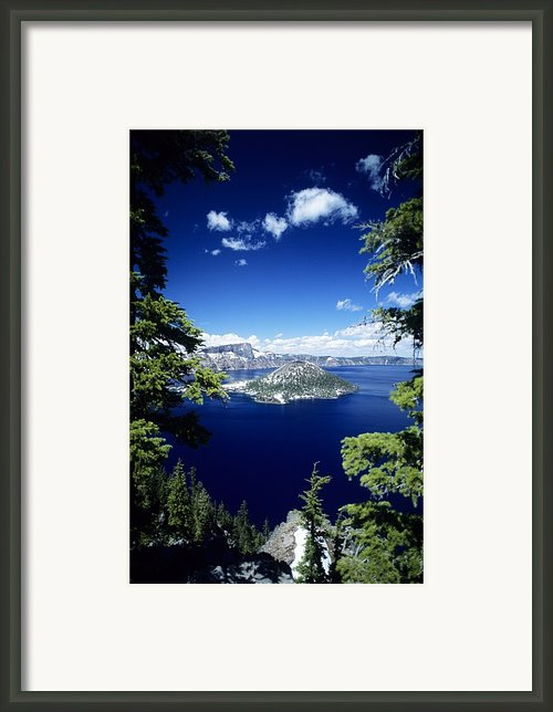 Crater Lake Framed Print By Allan Seiden - Printscapes