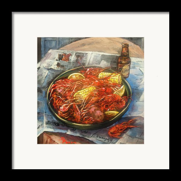 Crawfish Celebration Framed Print By Dianne Parks