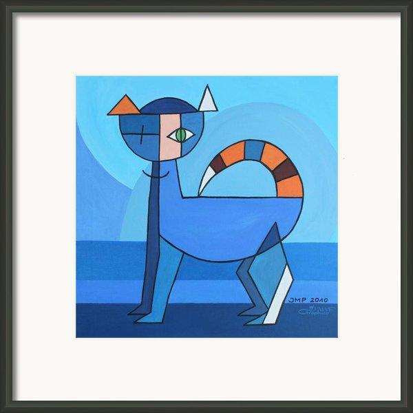 Crazy Cat Framed Print By Jutta Maria Pusl