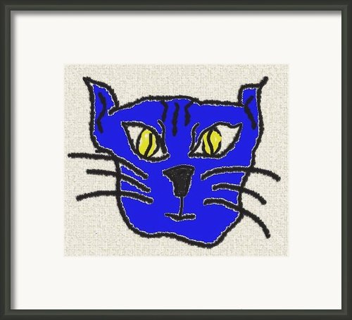 Crazy Cat Framed Print By Leeann Stumpf