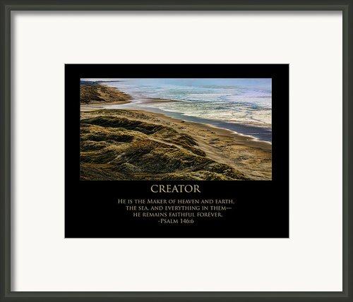 Creator Framed Print By Bonnie Bruno