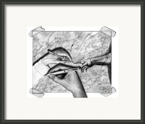 Creators Hand At Work Framed Print By Peter Piatt