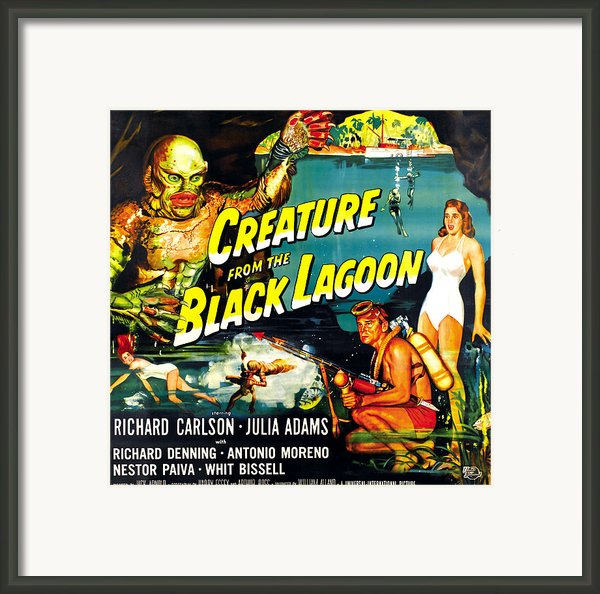 Creature From The Black Lagoon Framed Print By Everett