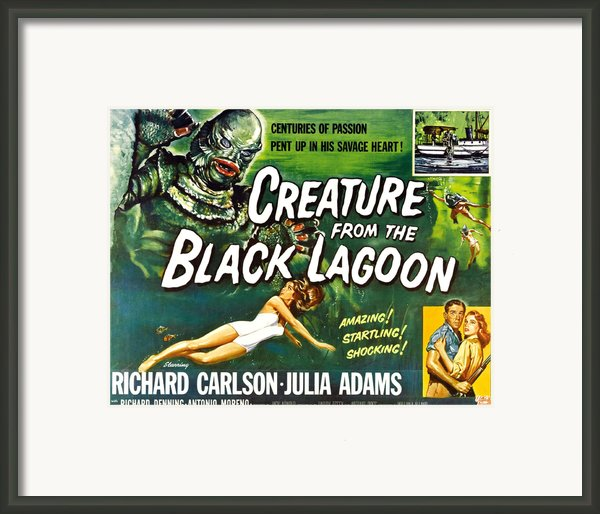 Creature From The Black Lagoon, Upper Framed Print By Everett