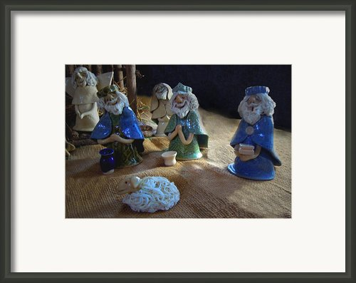 Creche Kings Framed Print By Nancy Griswold