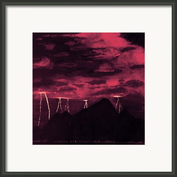 Crimson Storm Framed Print By Dawn Hay